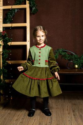 красивое вельветовое платье для девочки,  girls velvet dress