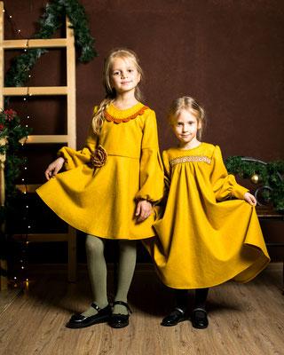 красивые платья для девочек, платье в русском стиле, тёплое платье для девочки