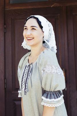 платье льняное в русском стиле