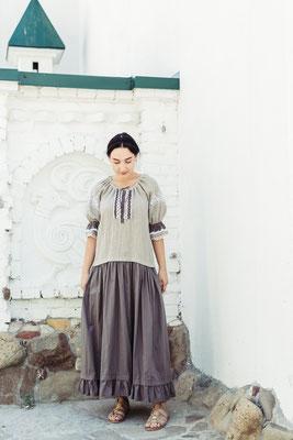 платье с вышивкой, русская вышивка
