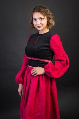 платье в русском стиле, одежда в русском стиле, русский стиль, русская мода