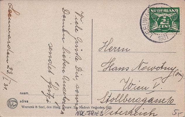 Ansichtkaart Gevangenis Leeuwarden A0049-b