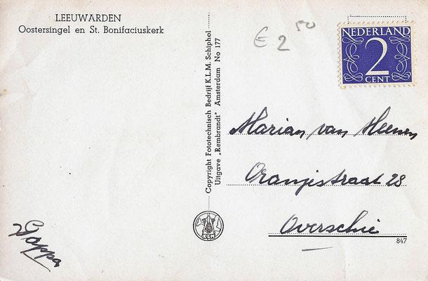 Ansichtkaart Gevangenis Leeuwarden A0131-b