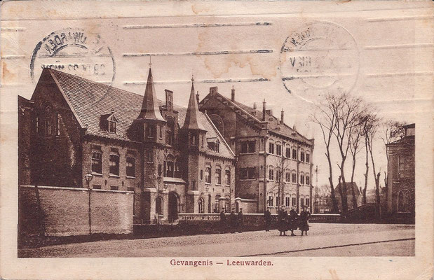 Ansichtkaart Gevangenis Leeuwarden A0107-a