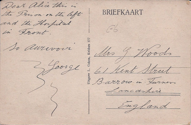 Ansichtkaart Gevangenis Leeuwarden A0036-b