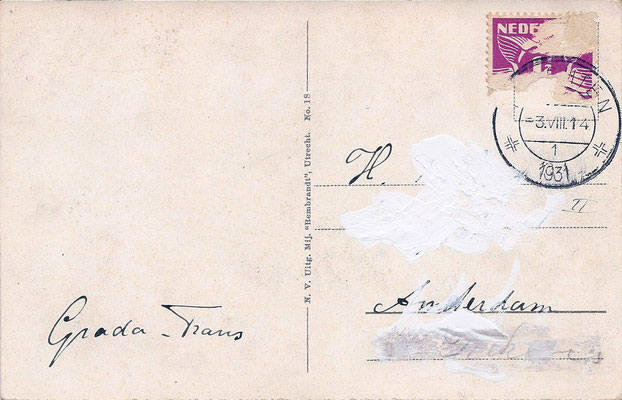 Ansichtkaart Gevangenis Leeuwarden A0122-b