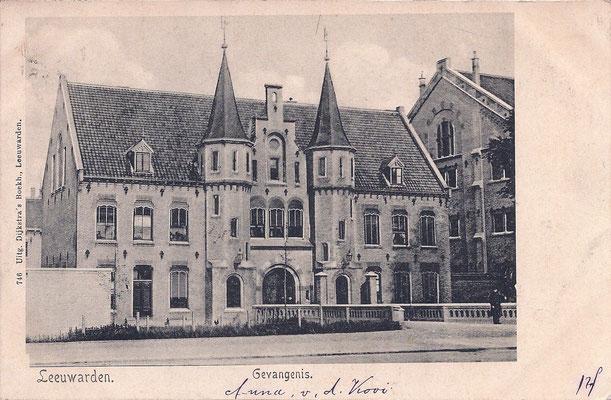 Ansichtkaart Gevangenis Leeuwarden A0051-a