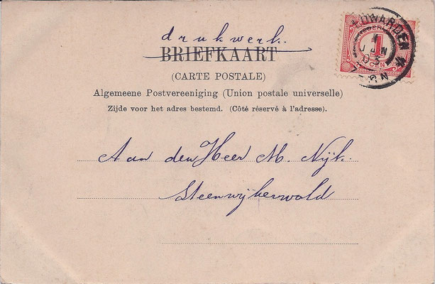 Ansichtkaart Gevangenis Leeuwarden A0051-b
