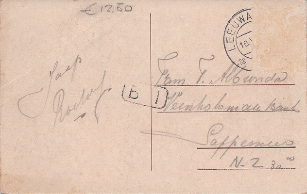 Ansichtkaart Gevangenis Leeuwarden A0005-b