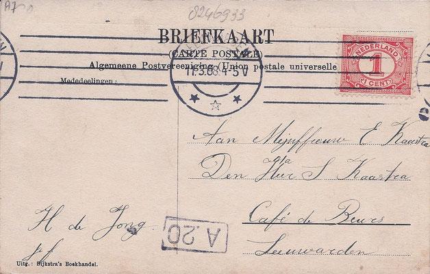Ansichtkaart Gevangenis Leeuwarden A0024-b