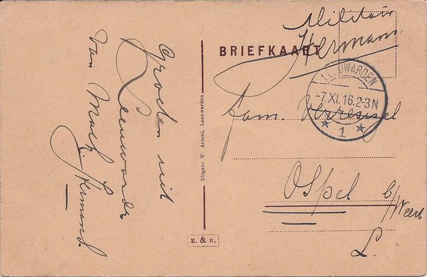 Ansichtkaart Gevangenis Leeuwarden A0044-b