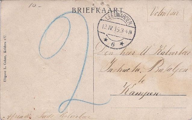 Ansichtkaart Gevangenis Leeuwarden A0092-b