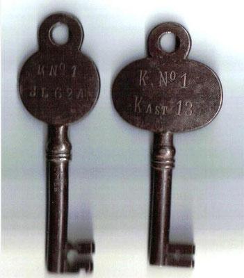 Deze twee sleutels komen uit de nalatenschap van Johannes Muller (1877-1933)