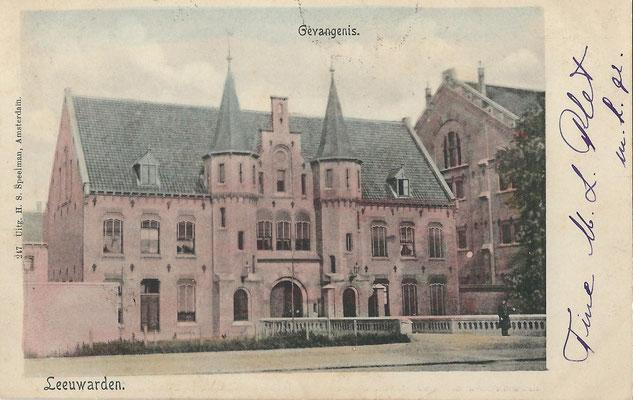 Ansichtkaart Gevangenis Leeuwarden A0141-a