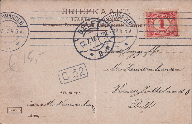 Ansichtkaart Gevangenis Leeuwarden A0117-b