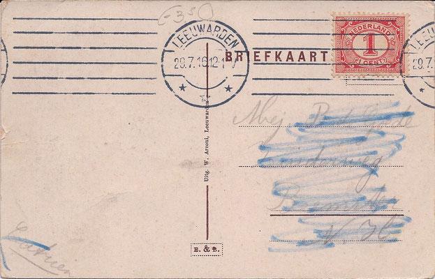 Ansichtkaart Gevangenis Leeuwarden DA0044a-b