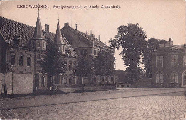 Ansichtkaart Gevangenis Leeuwarden A0114-a