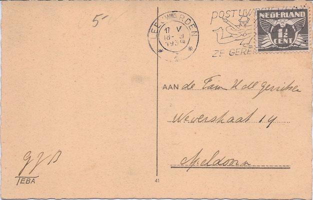 Ansichtkaart Gevangenis Leeuwarden A0045-b