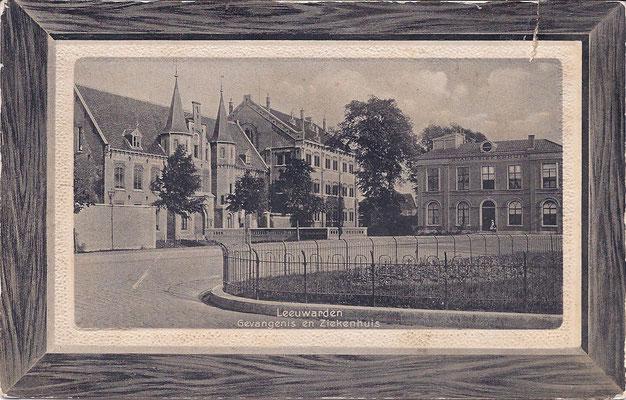 Ansichtkaart Gevangenis Leeuwarden A0121-a