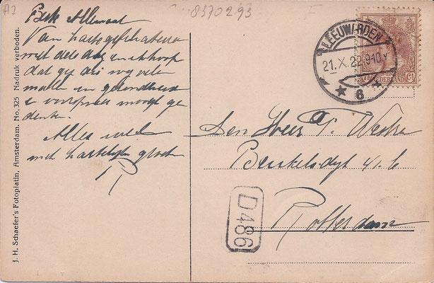Ansichtkaart Gevangenis Leeuwarden A0046-b