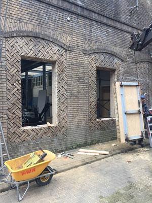 Verbouwing oude metaal werkplaats