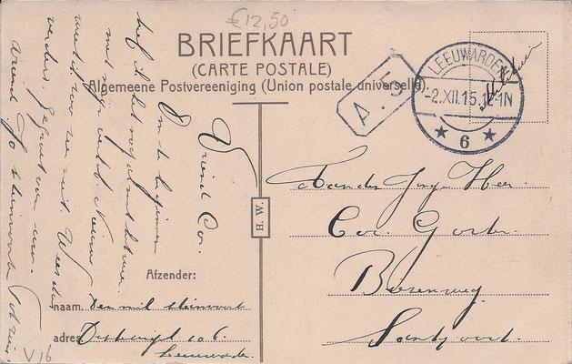 Ansichtkaart Gevangenis Leeuwarden A0063-b