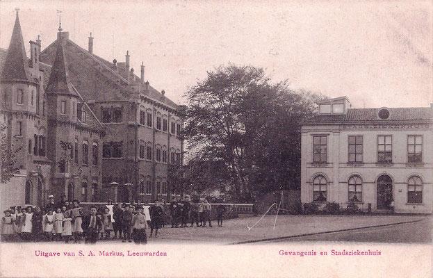 Ansichtkaart Gevangenis Leeuwarden A0003-a