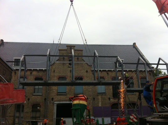 Sloop loopbrug Blokhuispoort foto's Bouwbedrijf Lont