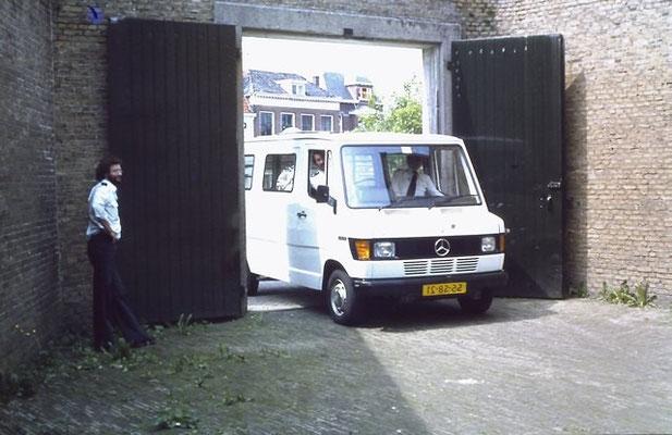 Pakketwagen achterdeur