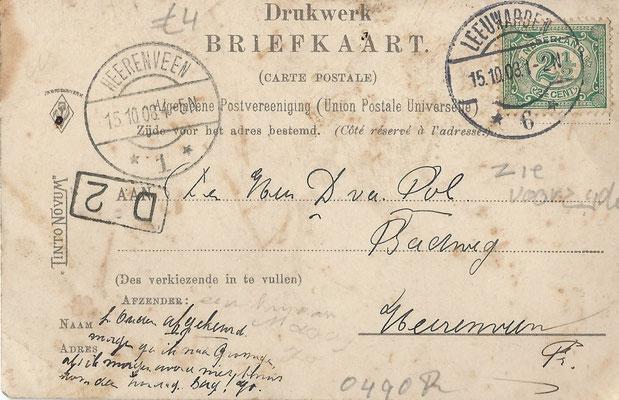 Ansichtkaart Gevangenis Leeuwarden A0140-b