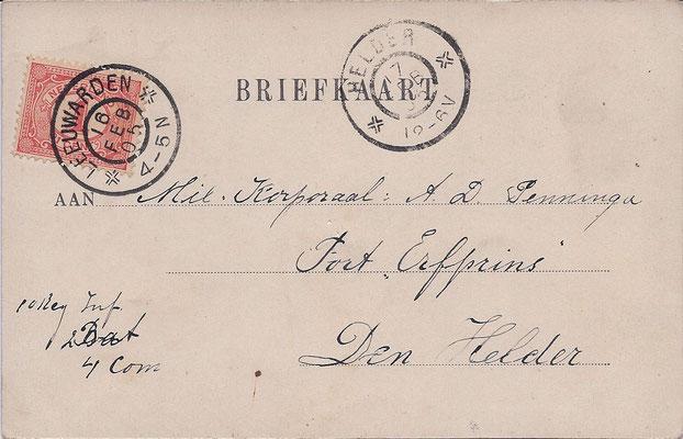Ansichtkaart Gevangenis Leeuwarden A0074-b