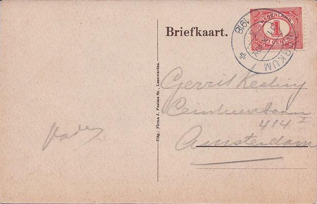 Ansichtkaart Gevangenis Leeuwarden A0001-b