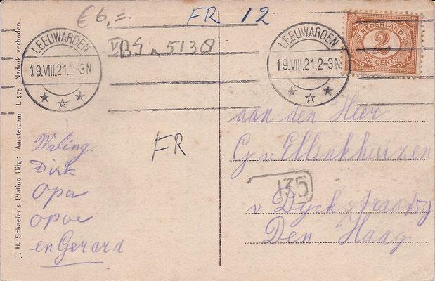 Ansichtkaart Gevangenis Leeuwarden A0009-b