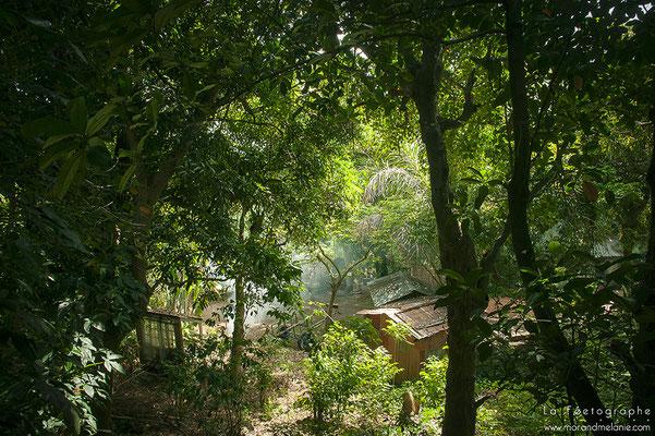 Vue sur le village des Engagés malgaches.