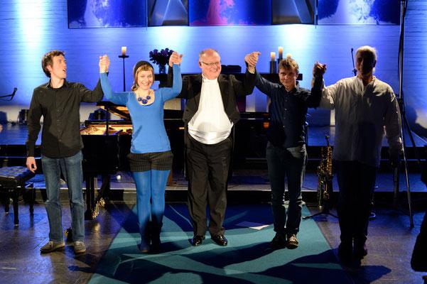Eröffnungskonzert PianoKirche am 28.02.2015 (Stickan, Mattheus, Rohlfing, Clasen, Goerke)