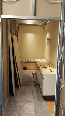Der Hygieneraum war anfangs eher rustikal