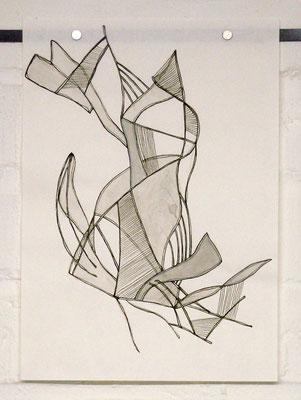 Skizze zu O.T. (Studie) /// 2013 /// 29,7cm x 21cm /// Tusche/Papier