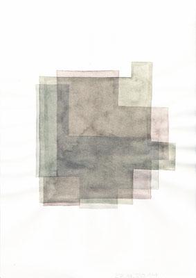 """O.T. (aus der Serie """"Entwurf für ein Glasmodell"""") /// 2014 /// 29,7cm x 21cm /// Aquarell/Papier"""