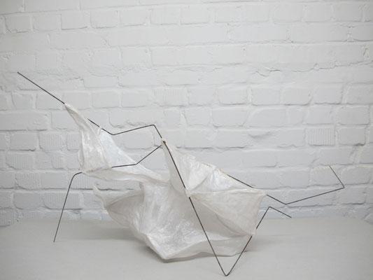 Symbiose I /// 2014 /// 40cm x 70cm x 40cm /// Papier/Stahl