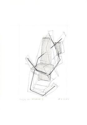 Studie zu Passage I /// 2014 /// 29,7 x 21cm /// Bleistift/Tusche/Papier