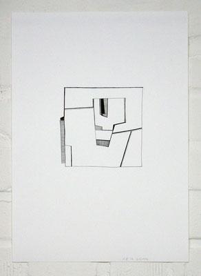 A/A 180414_1 /// 2014 /// 42cm x 29,7cm /// Tusche/Papier