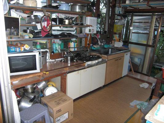既存の台所。