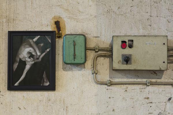 "Ausschnitt aus: Johannes Dreyer (@sierpinsky3eck): ""Erstarrtes Bewegen | Bewegen erstarren"". Collagenreihe, Karton, gerahmt. Foto: Ralf Emmerich"