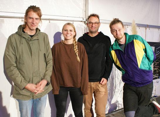 v. l. Andreas Weber, Sira Busch, Volker Surmann, Simeon Buß. Foto: Claudia Ehlert