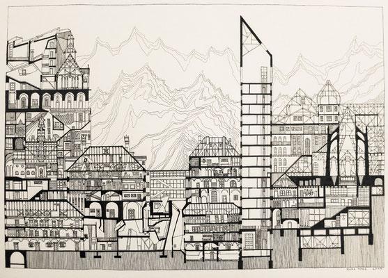 The layered city.  2013.  50x70cm