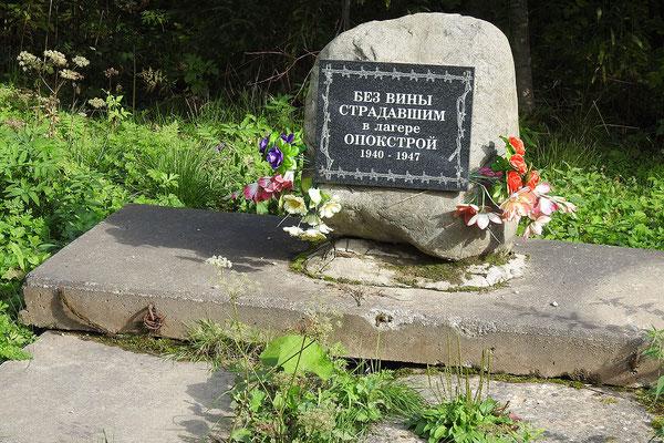 Gedenkstein für die Gulag-Opfer