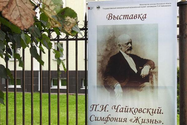 Hinweis auf eine Tschaikowski-Sonderausstellung