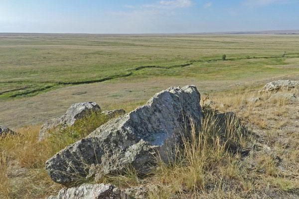 Die Vorural-Steppe südöstlich von Orenburg