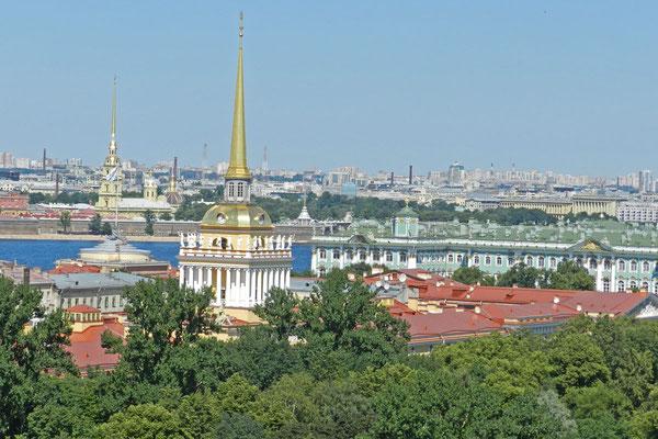 Blick von der Aussichtsplattform der Isaakskathedrale
