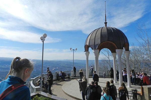 Aussichtspavillon auf dem Maloje Sedlo